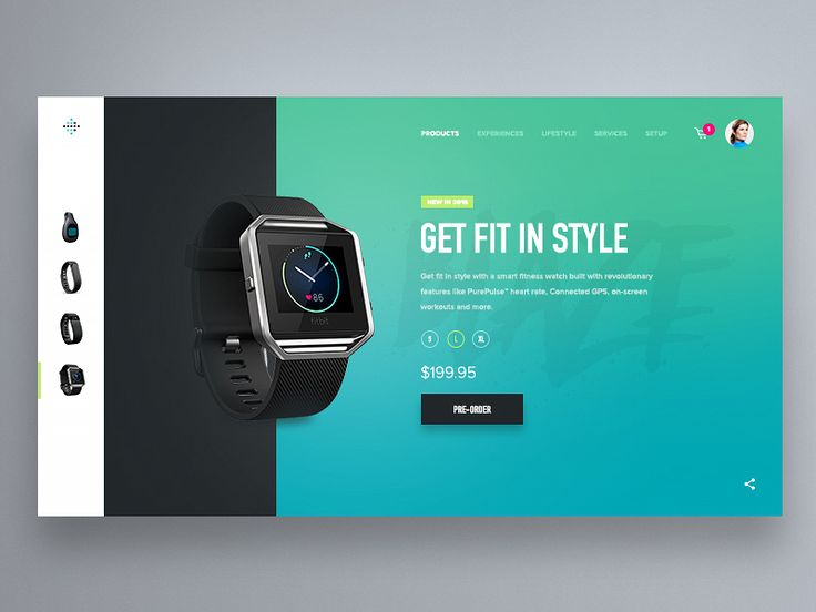 Fitbit Product Card Concept by Tony DeAngelo