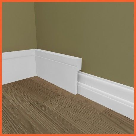 Square Groove MDF Skirting Board Cover (Skirting Over Skirting) - Skirting 4 u