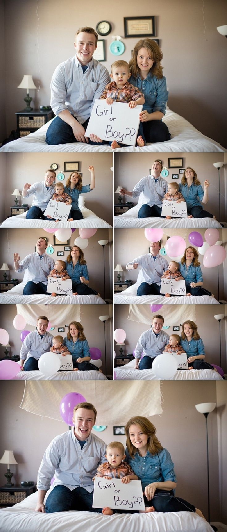 Gender reveal photoshoot. Indoor gender reveal session. Gender reveal with balloons | M Rose Photography