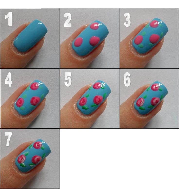 How To Draw Roses On Your Nails