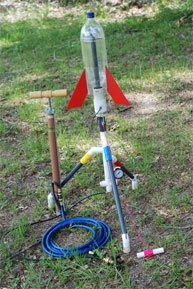 most Popular water rocket launcher used by boy scouts, YMCA, and schools.