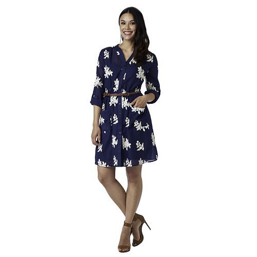 Women's Indication Floral Shirtdress