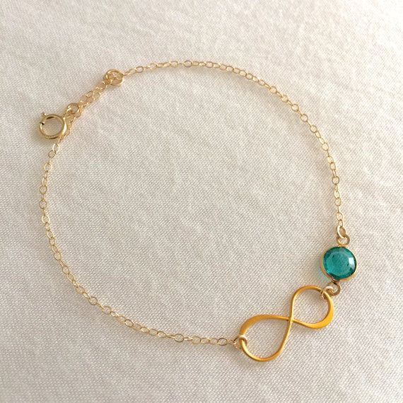 Infinity Birthstone Bracelet Personalized by StampedSchmuck