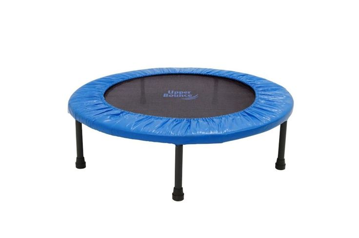 "Now you can take your trampoline exercises on-the-go with this Upper Bounce 36"" Mini Rebounder Trampoline! The trampoline folds in quarters and a carry bag is included for easy portability and conveni"