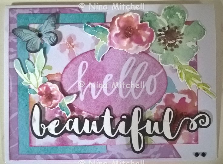 NM cards - Uniquely Creative Kit Club March 2017 - Wildflower Collection - Hello beautiful