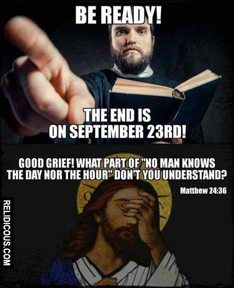Matthew 24:36 (Via Relidicous.com)