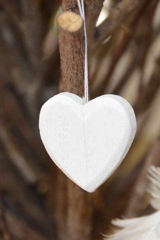 White Timber Hearts
