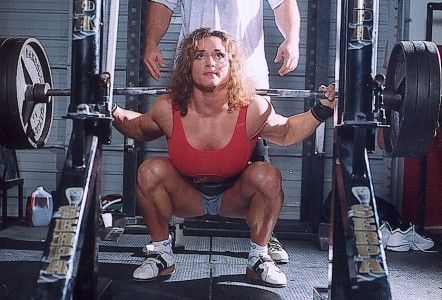 Jill Mills - She squats like she just stole your manhood, gave you a wedgie, then spat in your face and made your her little bitch. So basically, she's AWESOME.