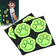 8 Pieces Cute Bear Paw Shaped High Visibility Stickers Self Adhesive Safety Stickers Decor for Car Bicycle Bags