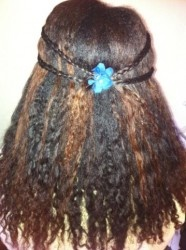 Pulled Back Hairstyle With Braid Detail Easy Hairstyle. To learn how to grow your hair longer click here - http://blackhair.cc/1jSY2ux
