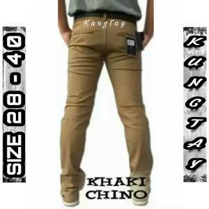 fashion pria celana panjang size 28 29 30 31 32 33 34 35 36 hitam abu khaki coklat kopi susu celana panjang chino pria lengkap tersedia ukuran jumbo cotton twill stretch best seller pria K905