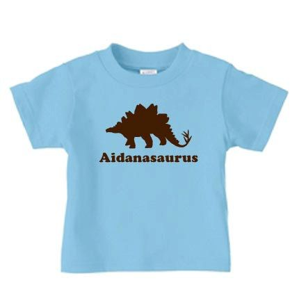 Personalized dinosaur tshirt featuring by PricelessKids on Etsy