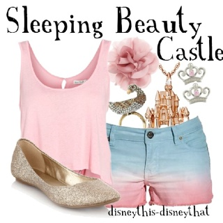 Disney this Disney that Sleeping Beauty castle outfit