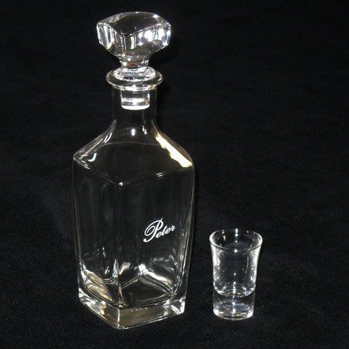 Stijlvol peter geschenk! Stevige karaf van 0,7 liter! Kijk hier voor meer originele cadeaus voor hem bij DaKaDo. VEILIG betalen en SNELLE levering