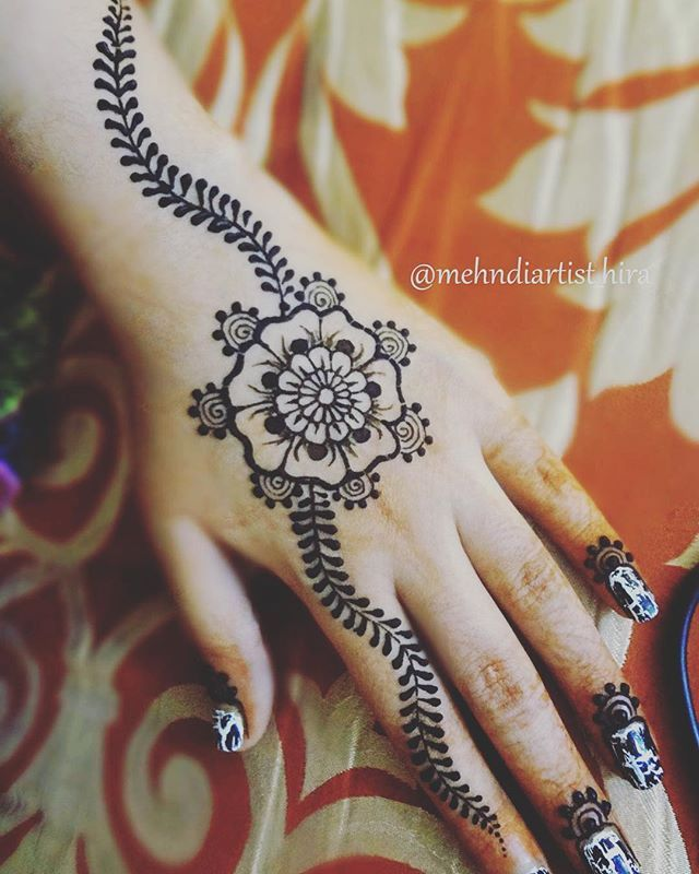 Mehndi Designs Tutorial : Easy henna designs tutorial makedes