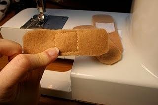 Felt bandaids for doctor kit