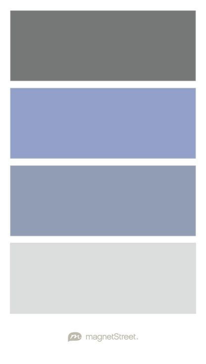 Charcoal, Periwinkle, Shale, and Silver Wedding Color Palette - custom color palette created at MagnetStreet.com
