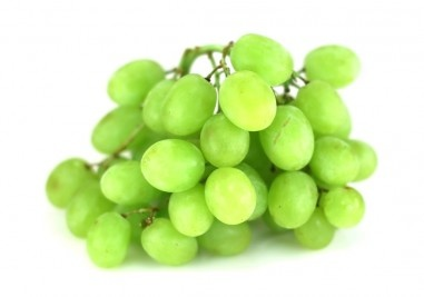 Bunch green grapes