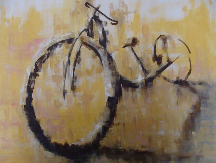 Bicycle acrylics on canvas 100x80cm
