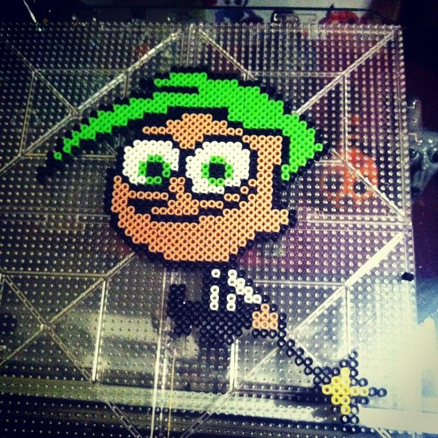 Cosmo - The Fairly OddParents perler beads by horiuchisan