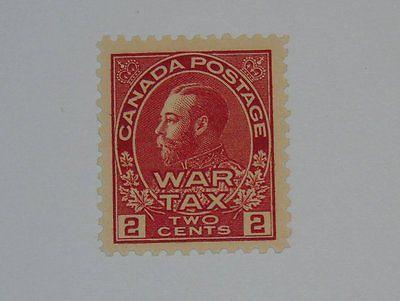 Stamp Pickers Canada 1915 KGV Admiral War Tax 1c Scott #MR2 MNH $70+