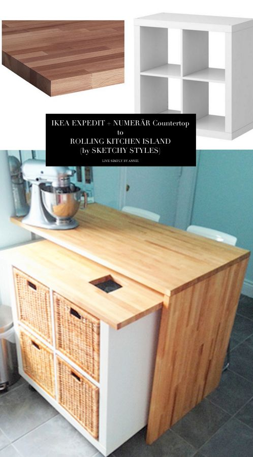 Rolling Kitchen Island Ikea Woodworking Projects Plans