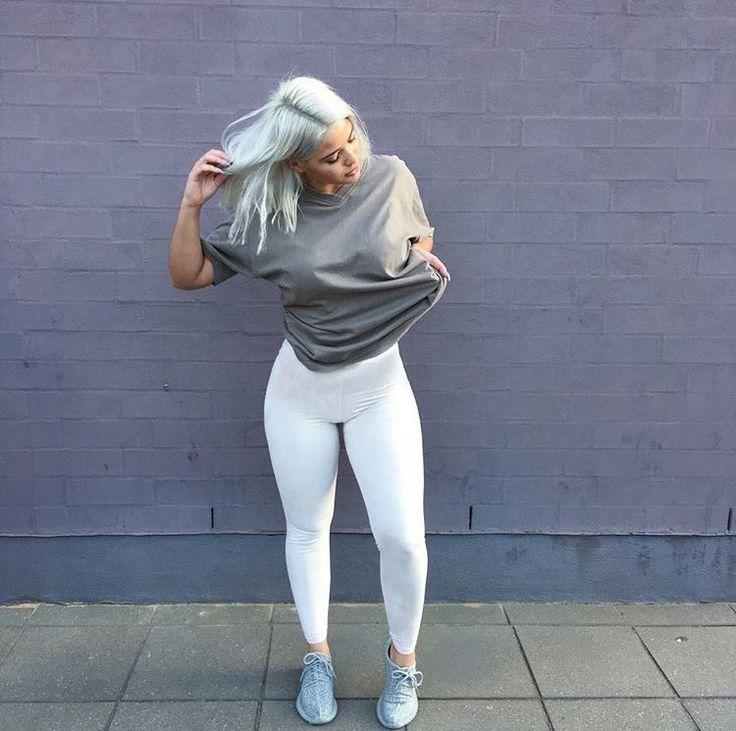 Bombshells | @milanastano | Ootd | Pinterest | White Leggings Chic And Shirts