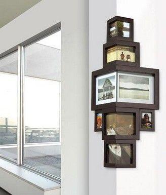 Cadre photo original angle de mur: immortaliser vos souvenirs !