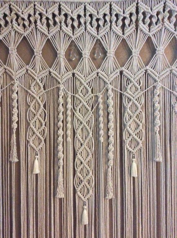 Extra grande Macrame colgante de pared tapicería boda fondo