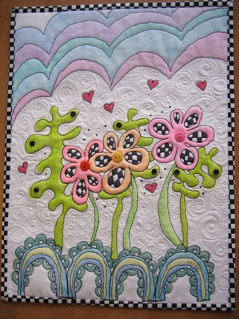Land of the Checkered Flowers by mamacjt, via Flickr
