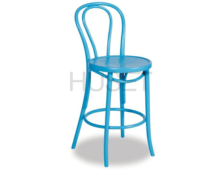Aqua Bentwood Bar Stool