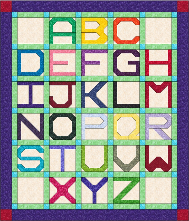 131 best quilt abcs images on pinterest alphabet quilt quilting quilt alphabet pattern letters fill complete block spiritdancerdesigns Gallery