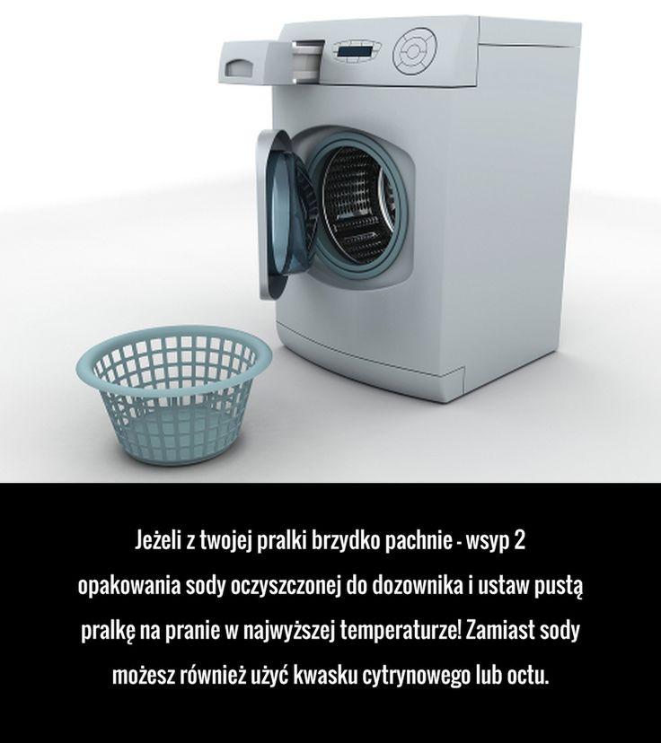 Jeżeli z twojej pralki brzydko pachnie – wsyp 2 opakowania sody oczyszczonej do dozownika i ustaw pustą pralkę na pranie ...