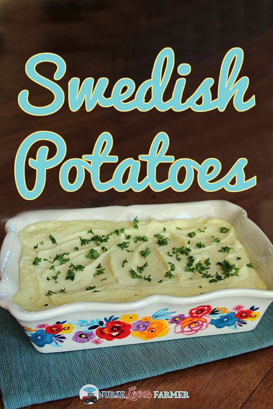 Swedish Potatoes. A creamy, fluffy and delicious side dish instead of your usual mashed potatoes. Flavoured with cream cheese, onion salt and more!