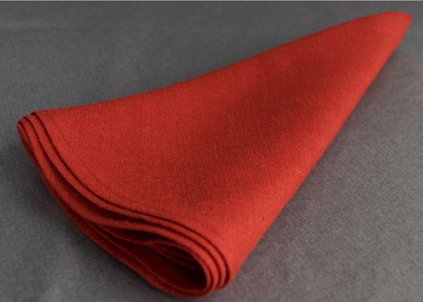 Serviette ronde en lin  Made in Belgium www.linaluxe.com