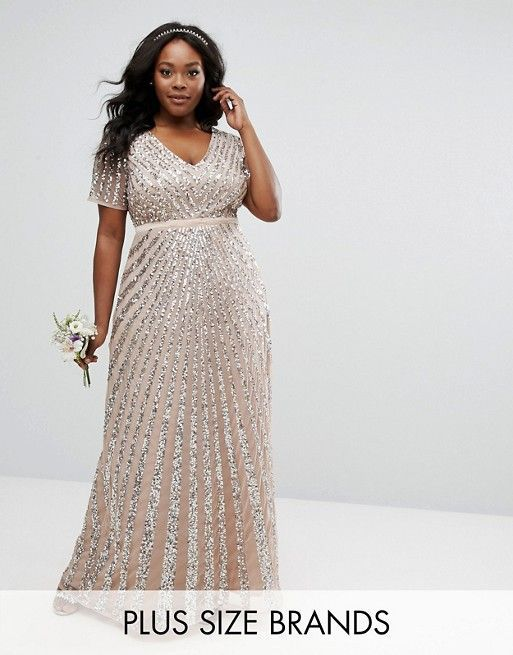 a1edee62612e Maya Plus Sequin All Over Maxi Dress | First Ladies | Bridesmaid dresses,  Plus size sequin dresses, Bridesmaid dresses plus size