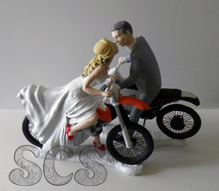 bike wedding cake topper 101 best custom wedding cake topper images on 11762