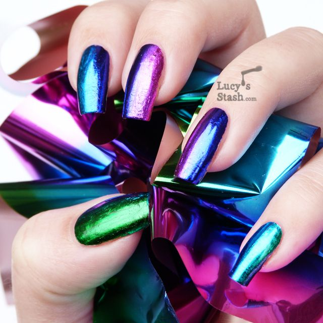 151 best transfer foil nail art nails by nded images on nail art for beginners 2017 how to do transfer foil nail art prinsesfo Gallery