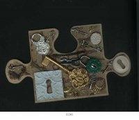 Puzzle Piece - I Made using an assortment of ACC Casts.  www.artii-craftii-creations.com.au