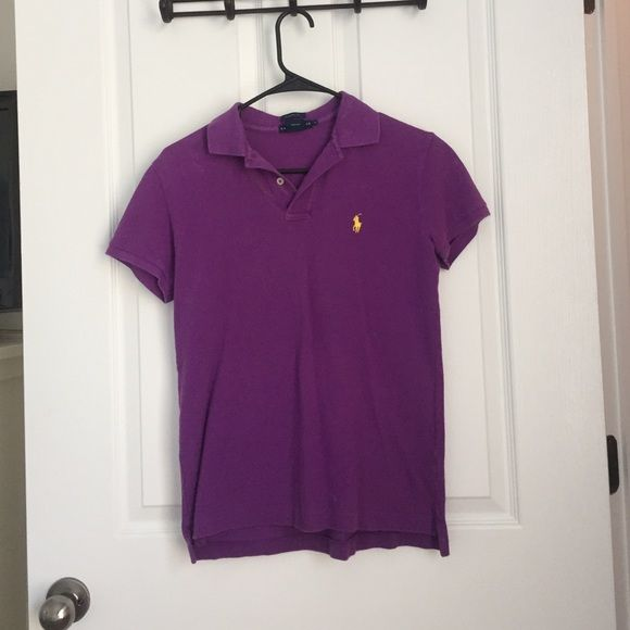Purple polo shirt Sleeve top Great condition and classic fit Polo by Ralph Lauren Tops Button Down Shirts