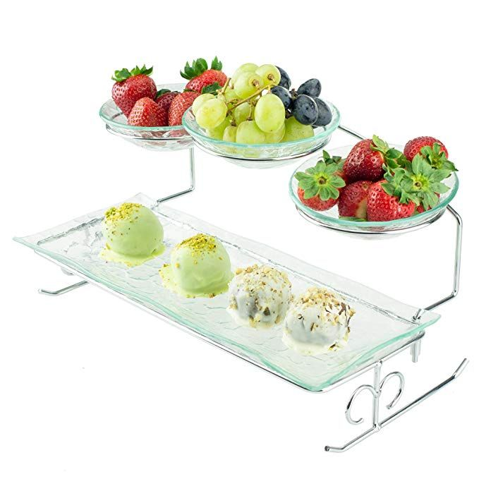 2 Tier Server Stand With Bowls Tiered Serving Platters Serving Platters Tiered Serving Trays