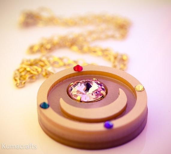 Sailor Moon Inspired Season 1 Compact Necklace Laser Cut Acrylic $25.00
