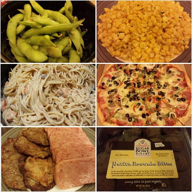 #veranda #party time w/ brothers #family #edamame #butter #corn #shrimp #cream #pasta #pizza and #sausage #burger #spam and #brownies from #snr #yummy #food #philippines #ベランダ #パーティー の時間 #枝豆 #コーンバター #海老 のクリーム #パスタ #バーガー #スパム #ケーキ #フィリピン