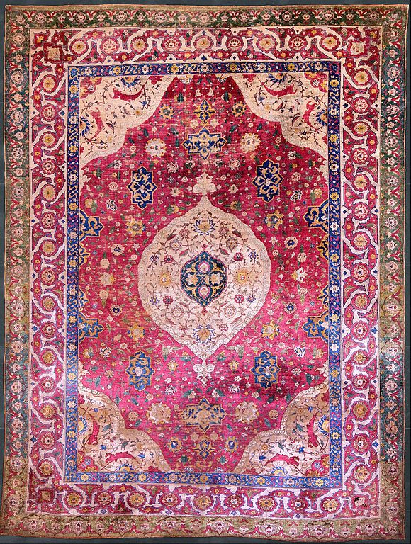 Persian carpet; ancient art of Persian culture