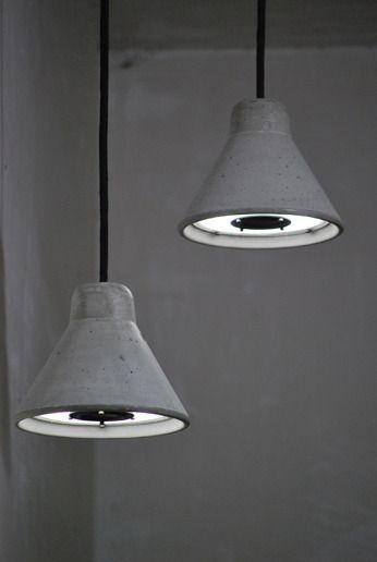 FILIPPO SPEAKERLAMP Pair of concrete lamps combined with audio speakers  Designed by: ZE123