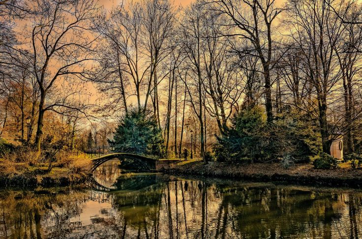 Romantyczny mostek. Park zamkowy [Romantic bridge. Castle park] (Pszczyna, Poland) by Grzegorz Hawrot / 500px E