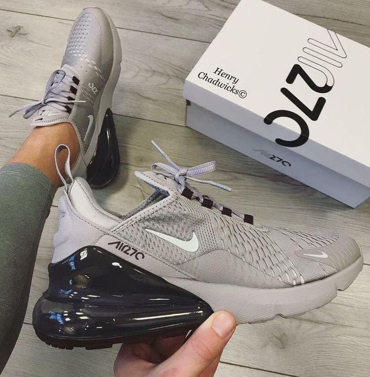 Nike Air Max 270 Grau Und Schwarz In 2020 Nike Schuhe Nike Schuhe Frauen Nike Schuhe Damen