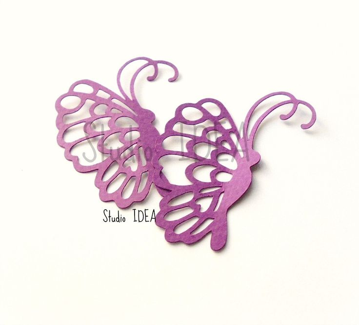 """2"""" Violet Purple elegant Butterfly side Cut outs-Set of 50pcs, 100pcs - or Choose Your Colors by StudioIdea on Etsy"""