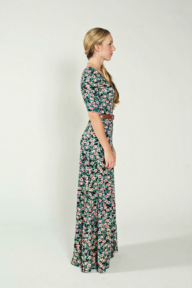Maxi dress knot front quad
