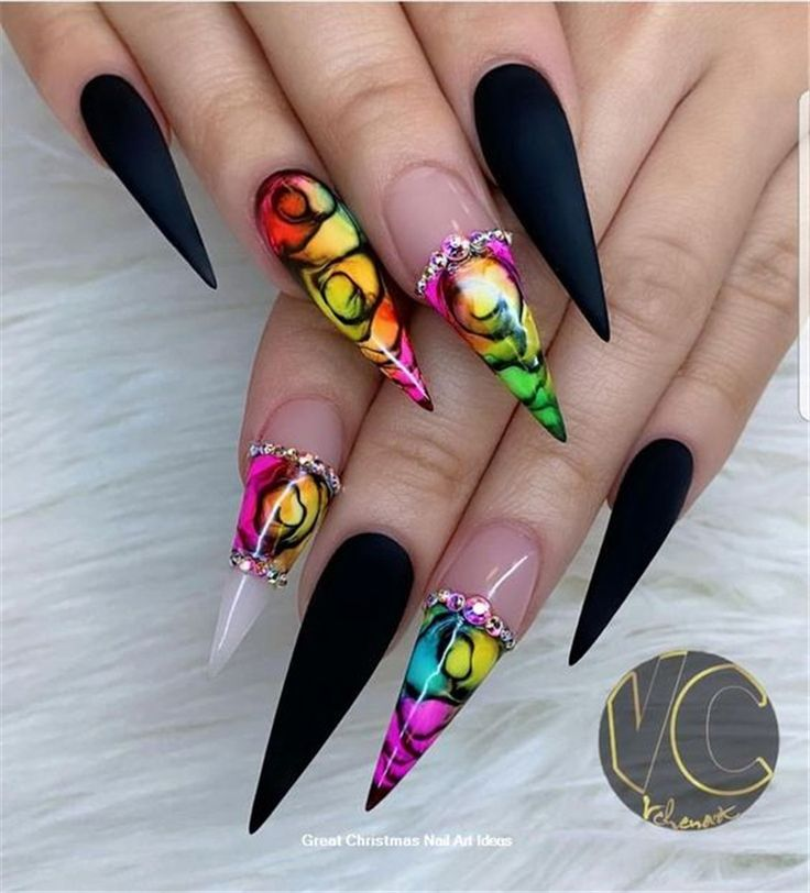 36+ Gorgeous Trend Stiletto Nails in 2019 – Holiday Nails Design